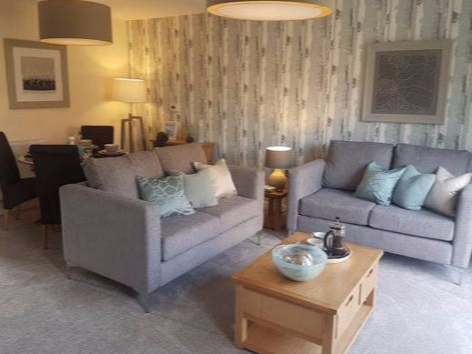 Showhome lounge and dining area scheme