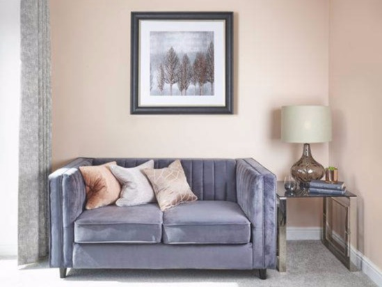 rose gold grey showhome lounge